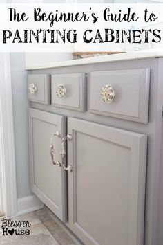 Beginner's Guide to Painting Cabinets | Bless'er House