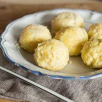 Krokette 2.0 - Knusprige Süßkartoffelklöße mit Käsefüllung