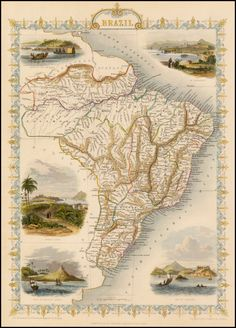 Brazil - Barry Lawrence Ruderman Antique Maps Inc.