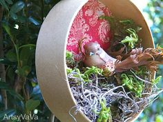 Artsy VaVa: Feather Your Nest Ornament