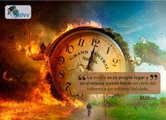 La mente es su propio lugar y en sí mismo puede hacer un cielo del infierno o un infierno del cielo. Milton  #eSelvv http://e.selvv.com/descubre-los-secretos-de-los-negocios-rentables-y-la-libertad-financiera/