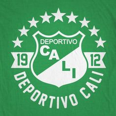 Show your suppport for Deportivo Cali! - Cotton T-Shirt - Seamless double needle collar - Taped neck and shoulders - ThermoFlex Soft vinyl print. Cali Colombia, Football Shirts, Manchester United, Soccer, Logos, T Shirt, Barcelona, Crochet, Photography