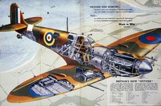 Second World War- Spitfire - cut out view | by The National Archives UK