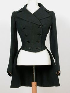 Riding coat 1880 Killerton Fashion Collection © National Trust / Sophia Farley and Renée Harvey