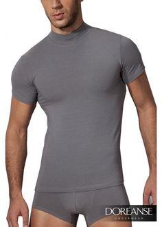 DA2730 - Slim-Fit Shirt mit Halbkragen aus Lenzing Modal® auf doreanse-shop.com
