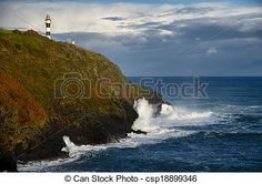 Lighthouse on reef with sea storm on background. Sea Storm, Lighthouse, Royalty Free Stock Photos, Waves, Outdoor, Pictures, Bell Rock Lighthouse, Outdoors, Light House