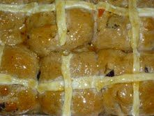 Easter Hot Cross Buns - oh my - a favorite for us in South Africa - here is an authentic tested recipe for SAfricans living in the US Easter Hot Cross Buns, South African Recipes, Bacon, Foods, Breakfast, Food Food, Morning Coffee, Pork Belly