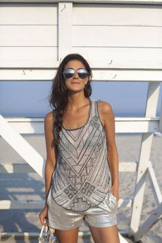 @roressclothes clothing ideas #women fashion gray t-shirt Summer Shine