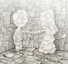Amor entre libros (ilustración de Berk Ozturk )