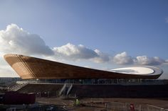 Olympic velodrome by Michael Hopkins, London, UK, The architect and specifier for the building required an eaves system that was sleek and smooth and would flow over the roof's distinguished double curved shape.