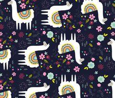 llama_pattern fabric by lamai on Spoonflower - custom fabric