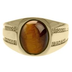 Oval-Cut Tiger Eye and Diamond Men's Ring In Yellow Gold Gemologica.com offers a unique, simple selection of handmade fashion, fine statement jewelry for men, woman, kids. Earrings, bracelets, necklaces, pendants, rings, gemstones, diamonds, birthstones in Silver, yellow, rose, white, black gold, titanium, silver metal. Shop @Gemologica jewellery for cool cute design ideas #gemologica Use *coupon* PIN for 10% off at www.gemologica.com now! Gemologica Customer Reviews on Pinterest