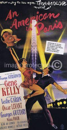 An American in Paris Vintage Movie Poster -24x36