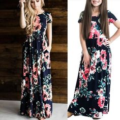 Mother and daughter summer dresses – Fabulous Bargains Galore Maxi Dresses, Strapless Dress, Summer Dresses, Ladies Day Dresses, Girls Dresses, Holiday Wear, Every Girl, Girl Outfits, Daughter