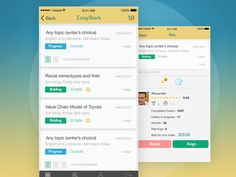 Essay App Design for iOS by Natali Volosetska