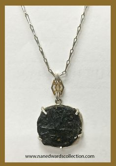 Byzantine Roman K Coin Necklace with Art Deco finding!