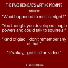 The Fake Redhead Writes Writing Boards, Writing Help, Writing A Book, Writing Tips, Writing Challenge, Dialogue Prompts, Story Prompts, Book Prompts, Writing Inspiration Prompts