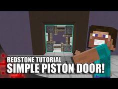Minecraft: Completely Hidden Redstone/Jeb Door - YouTube Minecraft Logic, Minecraft Secrets, Minecraft Redstone, Easy Minecraft Houses, Minecraft Medieval, Minecraft Plans, Minecraft Videos, Minecraft Decorations, Amazing Minecraft