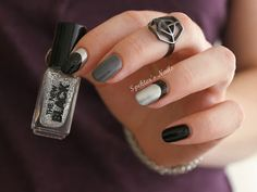 Spektor's Nails: The New Black - Ombré Shades: Graffiti