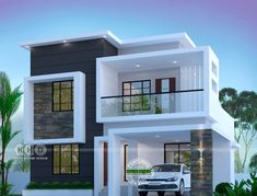 Top 7 Kerala Houses Design by Dream Homes – Amazing Architecture Magazine Modern Bungalow House Design, Modern Small House Design, Modern House Facades, Modern Exterior House Designs, Duplex House Design, Minimalist House Design, Modern Architecture House, Amazing Architecture, Chinese Architecture
