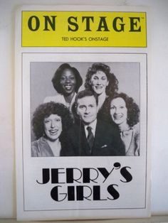 JERRY'S GIRLS Playbill type Onstage theatre program JERRY HERMAN Ted Hook's Onstage NYC 1981