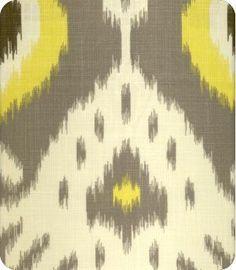 "L&S Textiles  Style: Baktavia Ikat  Color: Citrine  Item ID:1103287  Repeat: 25""  Mill: 1065  Price: $21.98/per yard"