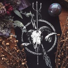 Enchanted Soul back patch from Poison Apple Printshop with a Ruby in Kyanite crystal ball.