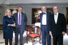 Richard H. Jenrette and CAHPT are honored with the Eric M. Wunsch Award for Excellence in the American Arts: (l-r) Margize Howell, Peter Wunsch, Morrie Heckscher, and John Hays at Christie's in January.