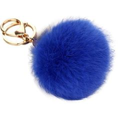 FUA Cute Rabbit Fur Ball Keychain Bag Plush Car Key Ring Car Key... ($3.95) ❤ liked on Polyvore featuring accessories, keychain key ring, key chain rings, fob key chain and ring key chain