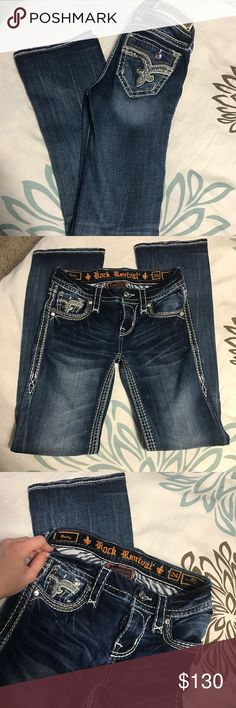 NWOT Rock Revival Betty Size 24x32, only worn twice!! Excellent condition. Mid rise, boot cut. Rock Revival Jeans Boot Cut
