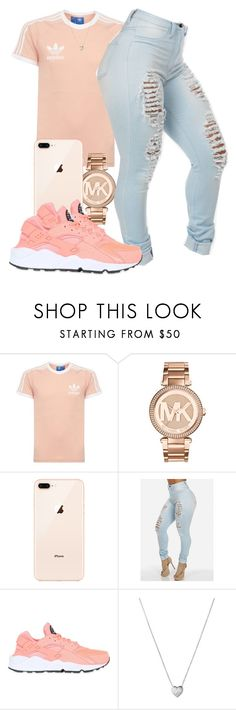 """Untitled #584"" by tayloryvonne1 ❤ liked on Polyvore featuring adidas, Michael Kors, NIKE and Links of London"