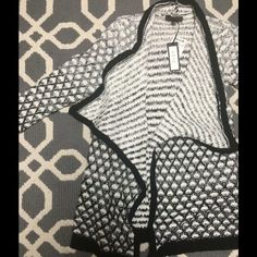 NWT black and white sweater NWT! Sweaters