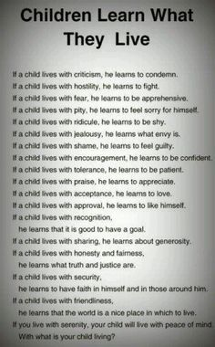 Be nice parents :) Your actions affects your kids