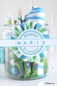 DIY free happy birthday printable | NoBiggie.net