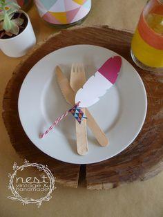 NEST Vintage & Handmade: NEST DIY - Teepee inspired table setting