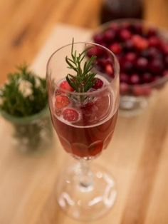 Cranberry Prosecco Fizz : Recipes : Cooking Channel