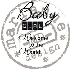 BGPayne Crafts. Marianne Design Clear Stamp Baby Girl