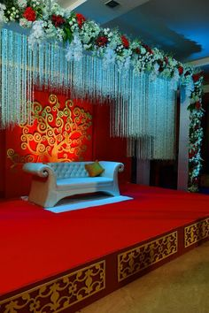 Golden Jubilee Anniversary Celebration - The Art of Weddings Pictures Engagement Stage Decoration, Wedding Stage Design, Wedding Reception Backdrop, Marriage Decoration, Wedding Entrance, Entrance Decor, Wedding Set Up, Wedding Backdrops, Wedding Designs