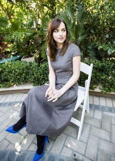 New photo of Dakota Johnson at the Fifty Shades Of Grey Press Conference