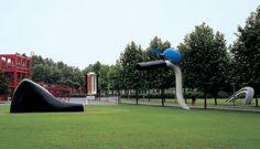 Bicyclette Ensevelie (Buried Bicycle) by Oldenburg & van Bruggen. 1990  Parc de la Villete Paris