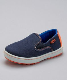 Another great find on #zulily! Navy Marcus Slip-On Shoe - Toddler & Boys by OshKosh B'gosh #zulilyfinds