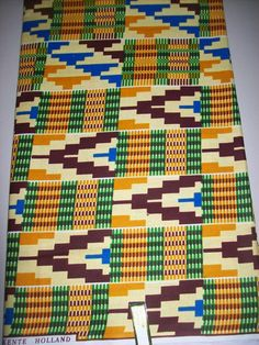 "Kente African print fabric per half yard. Top quality wax print, African textiles.  100% cotton, 18""x 44""-45"" inch wide.  Ideal for making clothing, accessories, quilting, décor and more"