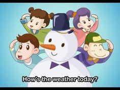 Liedje voor kleuters over het weer (Engels)