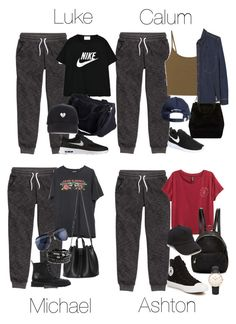 5SOS Styles: Dark Gray Sweatpants by fivesecondsofinspiration on Polyvore featuring polyvore fashion style NIKE MANGO Converse Giuseppe Zanotti STELLA McCARTNEY Daniel Wellington rag & bone clothing