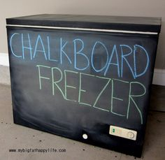 DIY Chalkboard Freezer
