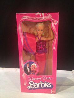 NRFB Vintage Mattel 1982 ~ DREAM DATE Barbie Doll #5868 pink box era 80's #Mattel