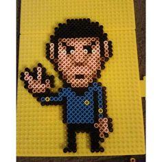 Mr. Spock Star Trek perler beads by djacobs1976