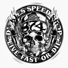 "DICKIES Speed Shop ""Live fast or die"" - SPRING/SUMMER 2018 - www.dvicente-art.com"