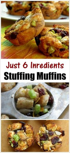 10 Most Misleading Foods That We Imagined Were Being Nutritious! Stuffing Muffins - Easy, 6 Ingredient Recipe And No Stove-Top Prep Required Easy Recipe For Your Thanksgiving Table Veggie Recipes, Fall Recipes, Vegetarian Recipes, Best Appetizers, Holiday Appetizers, Holiday Foods, Holiday Treats, Scones, Stuffing Muffins