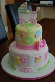 Baby Girl Shower Cake — Baby Shower